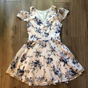 [Ali & Jay Light] Pink Cold Shoulder Dress